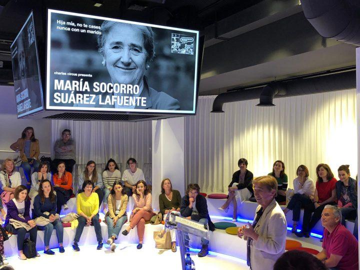 María Socorro Suarez Lafuente: «Hija mía, no te cases nunca con un marido»